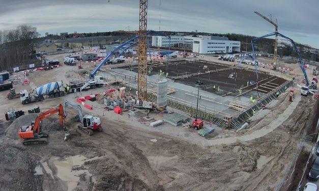 Mercury marks first prime contractor project in Denmark with record pour